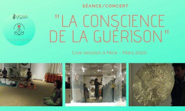 Vidéo : Séance – Concert : «la conscience de la guérison» – Gong – Bols de cristal – Kigonki – Tambours