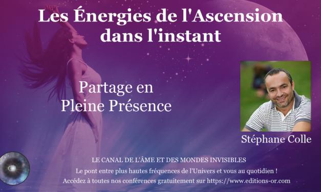 14/09/2020 Partage en Présence – Les énergies de l'Ascension dans l'instant sur la TV du canal de l'Âme