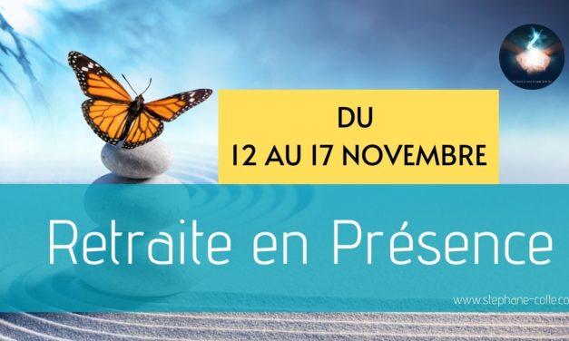 Nouvelle retraite en Présence du 12 au 17 novembre – Invitation au silence…