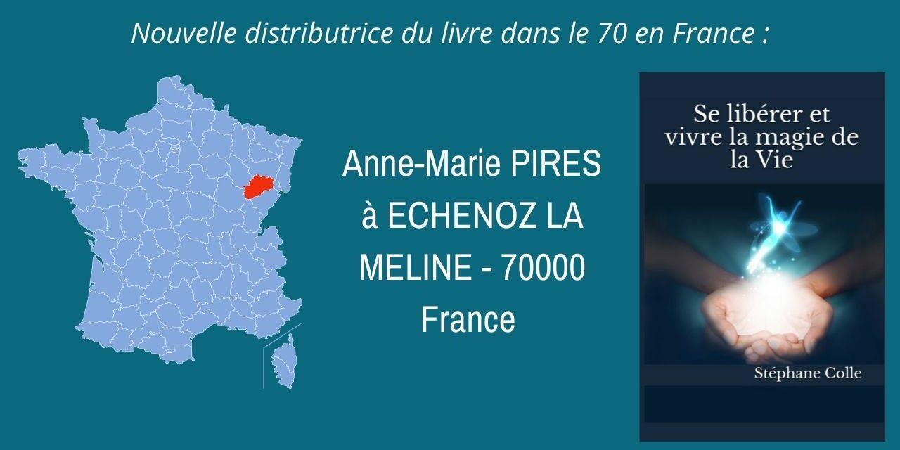 Nouvelle distributrice du livre en France dans le département 70…