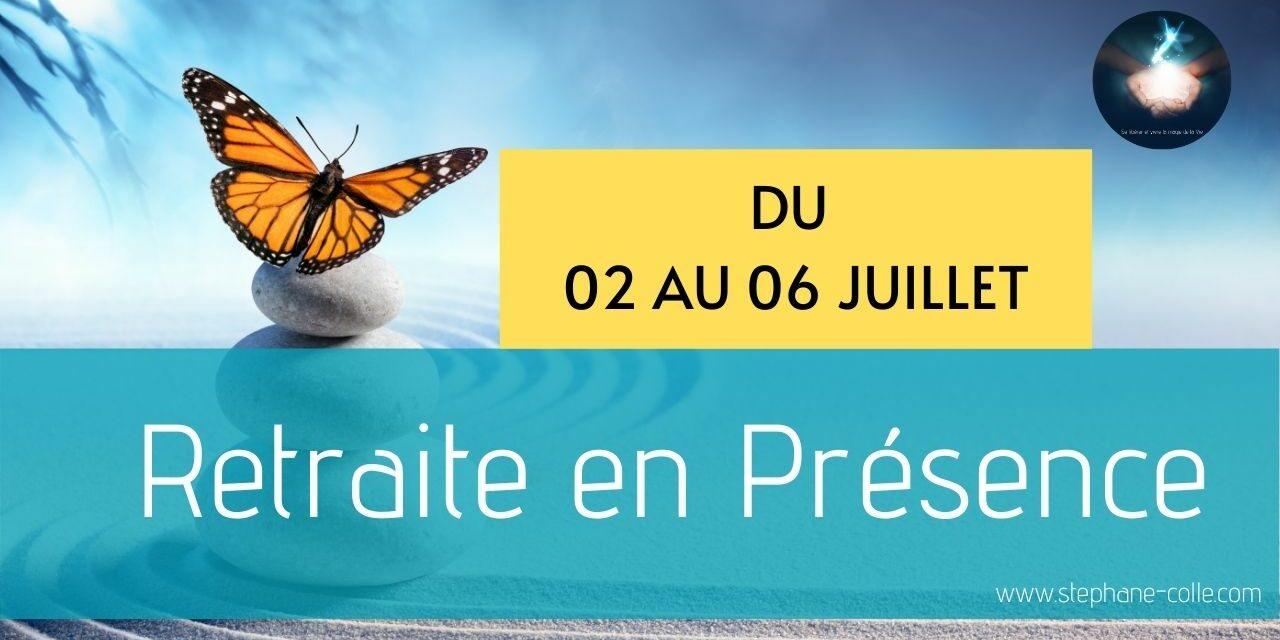 Nouvelle retraite en Présence du 02 au 06 juillet 2021 – A distance depuis Internet